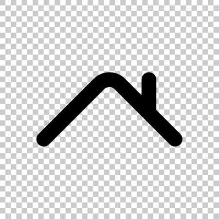 Ilustración de Roof of house. Simple linear icon. One line style. On transparent background. - Imagen libre de derechos