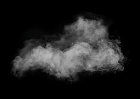 Foto de White smoke isolated on black background - Imagen libre de derechos
