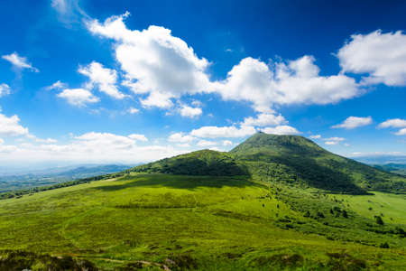 Foto per Puy de Dome mountain and Auvergne landscape, France - Immagine Royalty Free
