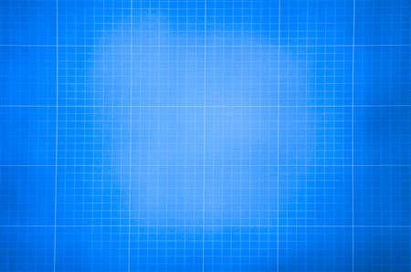Foto de Millimeter engineering paper. Blue graph paper background. Graph paper for building and architectural drawings - Imagen libre de derechos