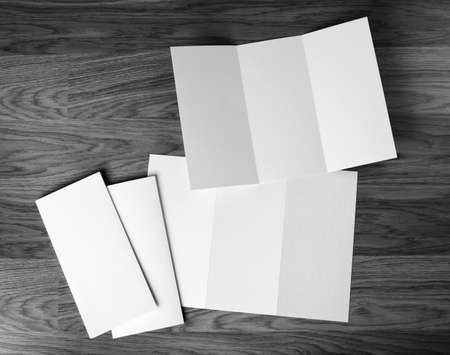 Photo pour identity design, corporate templates, company style, set of booklets, blank white folding paper flyer - image libre de droit
