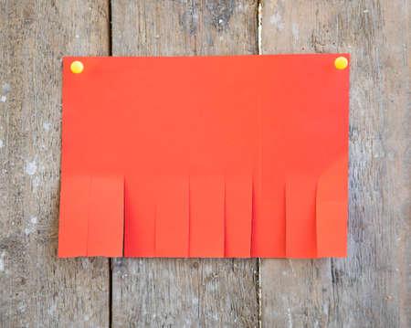 Photo pour Blank red paper with tear off tabs - image libre de droit