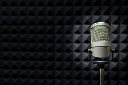 Photo for Microphone in studio - Royalty Free Image
