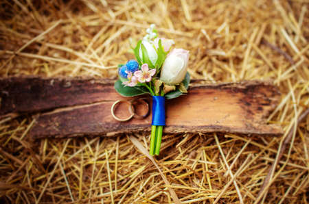 Photo pour Beautiful wedding details from ceremony and reception - image libre de droit