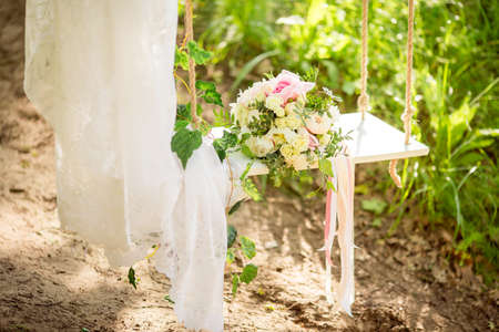 Photo for Wedding Flowers Bouquet on Background - Royalty Free Image