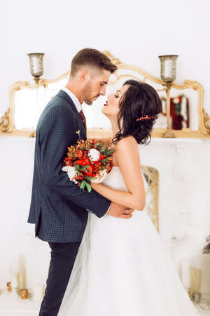 Photo for Bride and groom on their wedding day - Royalty Free Image