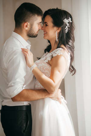 Photo for Happy bride and groom on their wedding - Royalty Free Image