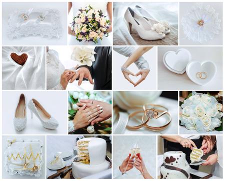 Foto de wedding photo set, the details and moments of wedding - Imagen libre de derechos