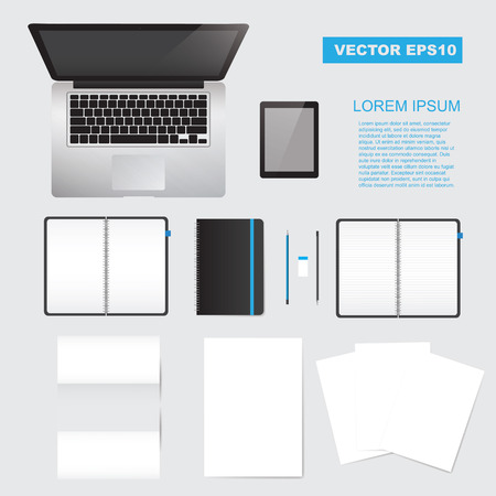 Illustration for Vector corporate identity mock up - Royalty Free Image