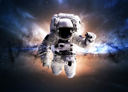 Photo pour Astronaut in outer space. - image libre de droit