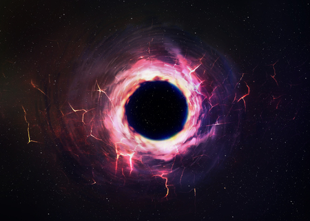 Photo pour Black hole in space. - image libre de droit
