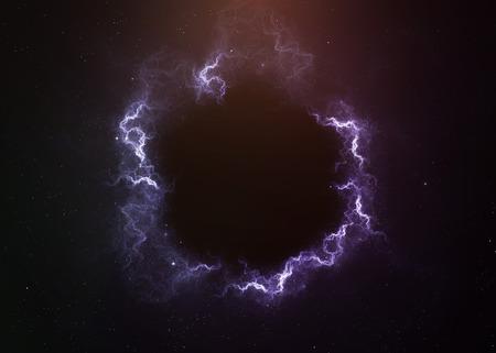 Photo pour Black hole in space.  - image libre de droit