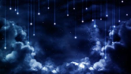 Photo pour Peaceful background, blue night sky.  - image libre de droit