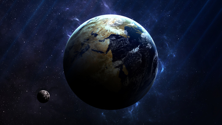 Photo pour Earth - High resolution best quality solar system planet. All the planets available. This image elements furnished by NASA. - image libre de droit
