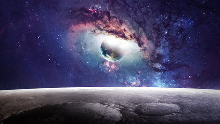 Photo pour Universe scene with planets, stars and galaxies in outer space showing the beauty of space exploration.  - image libre de droit