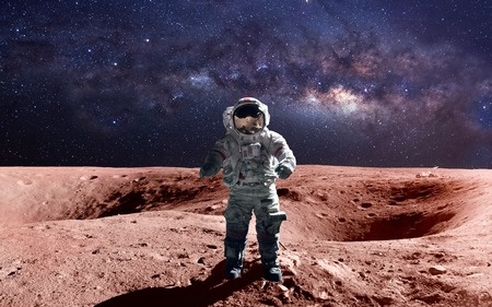 Photo for Brave astronaut at the spacewalk on the mars. - Royalty Free Image