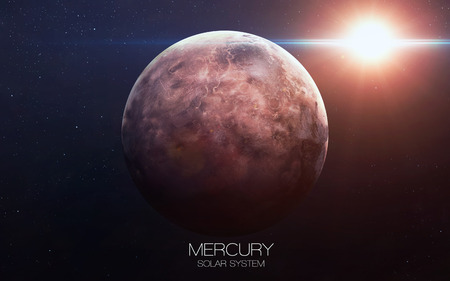 Foto de Mercury - High resolution images presents planets of the solar system. - Imagen libre de derechos