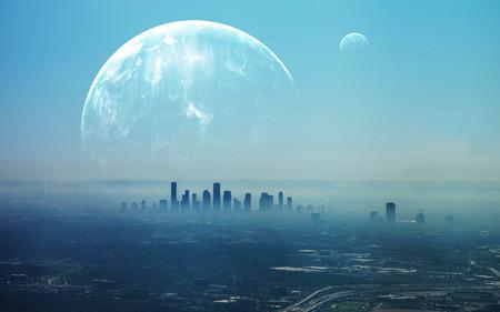 Photo pour View of Futuristic City. - image libre de droit