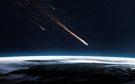 Photo pour Meteor shower. - image libre de droit