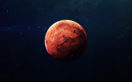 Foto de Mars - High resolution beautiful art presents planet of the solar system. - Imagen libre de derechos