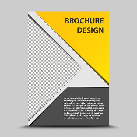 Illustration for cover brochure template.catalog sheet vector design - Royalty Free Image