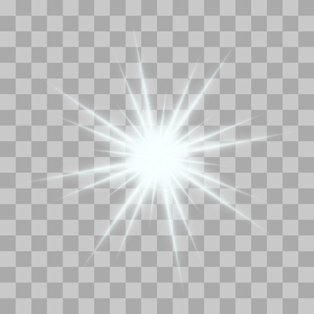 Illustration pour Vector glowing light bursts with sparkles on transparent background. Transparent gradient stars, lightning flare. Magic, bright, natural effects. Abstract texture for your design and business. - image libre de droit