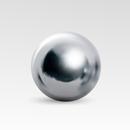 Ilustración de Chrome ball realistic isolated on white background. Spherical 3D orb with transparent glares and highlights for decoration. Jewelry gemstone. Vector Illustration for your design and business. - Imagen libre de derechos