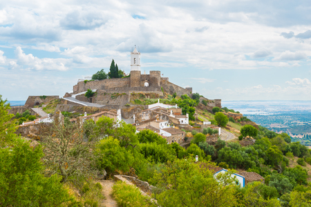 Photo for The medieval Castle  of Monsaraz in the Alentejo, Portugal. - Royalty Free Image
