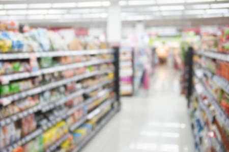 Photo pour very blur supermarket  for background - image libre de droit