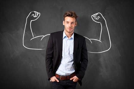 Photo pour strong businessman - image libre de droit
