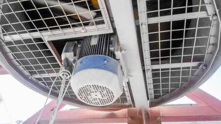 Photo pour Gasoline air coolers. Oil refinery. Equipment for primary oil refining. - image libre de droit