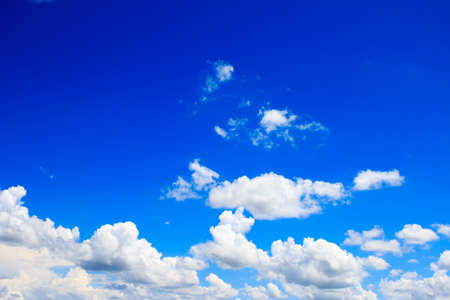 Photo pour Bright blue sky with white clouds - image libre de droit