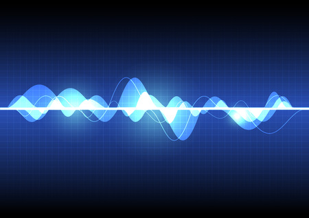Ilustración de abstract wave background - Imagen libre de derechos