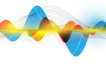 Illustration pour colorful abstract wave - image libre de droit