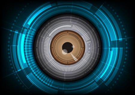 Illustration pour vector eyeball future technology, security concept background - image libre de droit