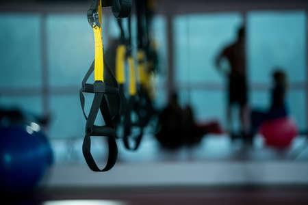 Foto de Trx fitness straps for working with own weight - Imagen libre de derechos