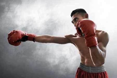 Photo pour Strong muscular boxer - image libre de droit