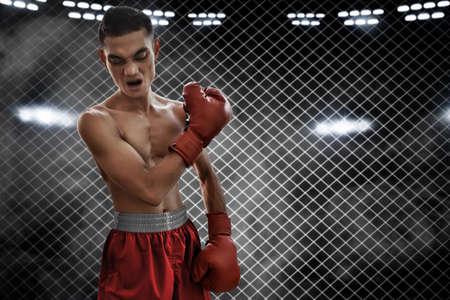 Photo pour Boxer on the ring - image libre de droit