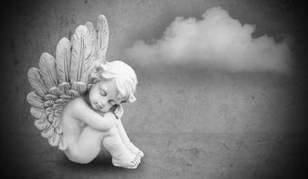 Photo for angel on gray background - Royalty Free Image