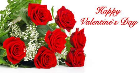 Photo pour Red Roses for Valentine - image libre de droit