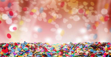 Photo pour Confetti, background, carnival, bokeh - image libre de droit