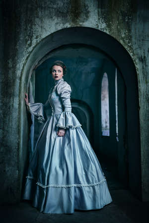 Photo for Woman in victorian dress - Royalty Free Image