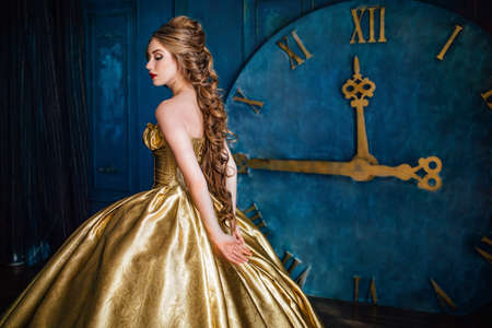 Photo for Beautiful woman in a ball gown - Royalty Free Image