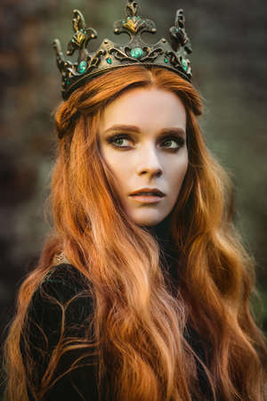 Photo for Ginger queen near the castle - Royalty Free Image