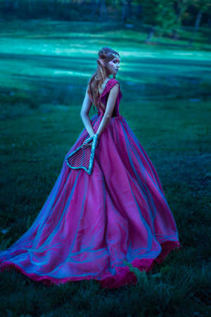 Photo for Elf woman in violet dress - Royalty Free Image