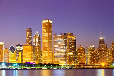 City of Chicago USA, sunset  mural