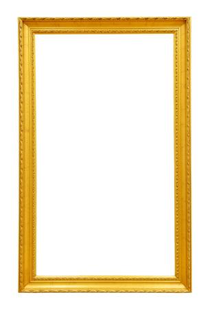 Photo pour Gold vintage frame isolated on white background - image libre de droit