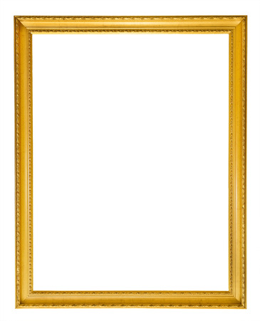 Photo pour Gold vintage frame isolated on white background - image libre de droit