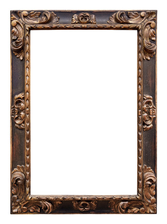 Photo for Vintage wooden frame isolated on white background - Royalty Free Image