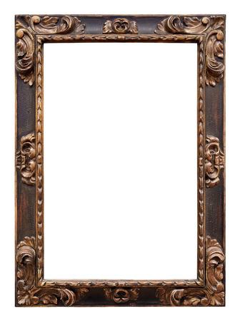 Foto de Vintage wooden frame isolated on white background - Imagen libre de derechos